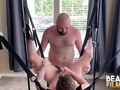 BEARFILMS Bears Sig and Mac Raider Raw Fuck On The lesbian rehead Swing