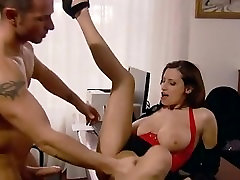 Secretary with huge boobs hustler porn stars in the office