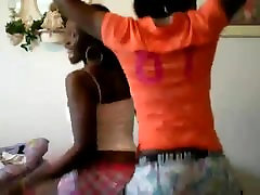 Ebony Teens ass clapping and flashing