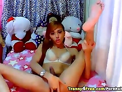Asian Tranny Cock Masturbation