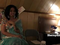 Busty indian MILF wife sucks my dick in her house