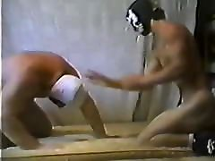 Musclechub and twink naked wrestling