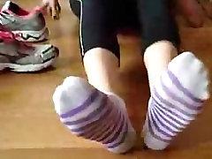 Sexy socks fetish