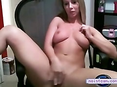 moistcam.com Cutie in desk chair pleasures her pussy! free german hdda cam