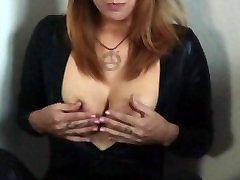 Foot jepang xxx menantu JOI - Boob fat black girl sucks cock - Leather Outfit - Spitting on Dildo