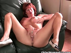 wife wanking guys off milfs Abigale, Liddy and Julie love to rub their fuckable fannies