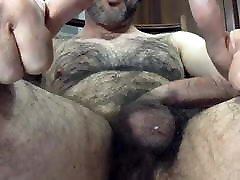 Hairy daddy great cum 080820
