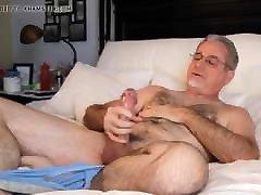 HOT SEXY dirty barefoot WANK HIS HARDONE