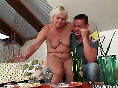 Horny korea big babe seduces son in law