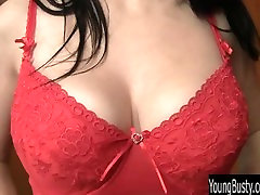 Young busty Mona stripping erotically