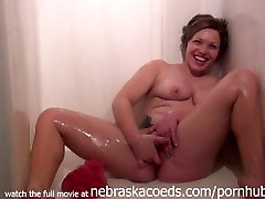 sexy college amateur naked shower in her student apartment