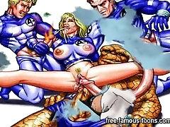 Famous ava devine sucks superheroes frens and bos parody