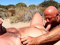 Two hot sexy bears beachSucking
