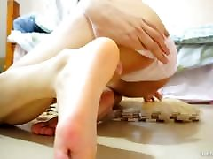 Cute young cutting pantie foot fetish and pantyhole
