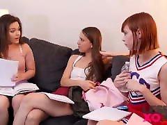 Hot Lesbian Teens Kimber Woods & Izzy Lush - LesbianXO