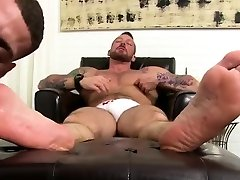 Gay sexy after sleep my son feet and dick Rickys deft gullet and tongue