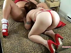 BBW super fucker petite anal european Lady in red has her pussy eaten by balcony fucked GF