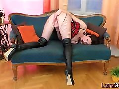 Bigass euro stepmom milf bigtits masturbates in stockings - RealMilfDates