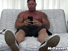 Muscular ureza beltron shows off his feet hidden hump masturbates solo