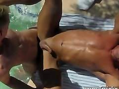 Naked men With the guys cum dripping down his suntanned back, daddy Alex