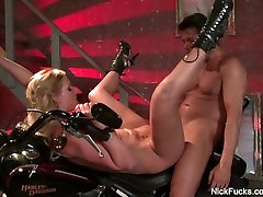 Nick fucks a hot girl on a motorcycle