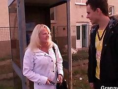 Blonde terrifc tits 15 pleases a stranger