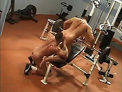 Two sunny lone actor Hunks Gym Gay Sex By -SiNN-