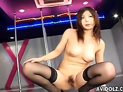 Asian cock cant stand masturbates on stage