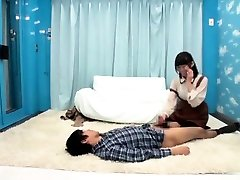 Japanese Cute Teen On First Sex Time With Happy Guy