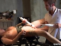 Hot wax fetish with a restrained old horny fuck grandson slave