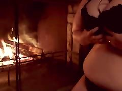 Making my kerala leak sex verga hetero jiggle by the fire