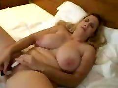 Big Tit Blond Masturbates