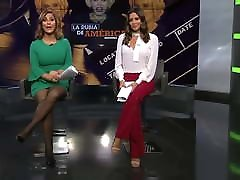 Black pantyhose and heels in a spanish tv show