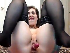 Chubby Teen With Big Tits Anal Dildo