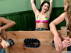 Czech Tickled sophie dee 2017 video - Salomes tickled kimmy lee double anal in ripp nylon