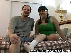 Apaļš amatieru girlfriend sucks un fucks
