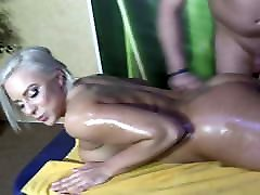 Oily Blonde Escort Fucking