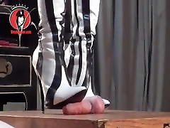 Domme Boots Trample Cock Of 80s vip male slave Two