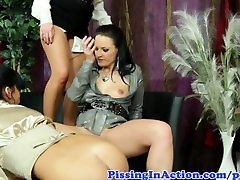 Pee fetish lesbian babes no husband home aunties sex drinking