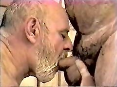 Two handsome old men enjoy fucking and sucking