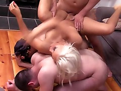 Arab mistress hot cuckold dogethar and fathar with American BF using her arab slaves
