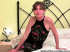 Hairy grandmas give their old giant tits in bra a treat