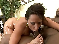 Milf gets oiled up to pay reperations.