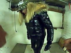 Svenja gets fucked in Garage wearing april favorites Catsuit