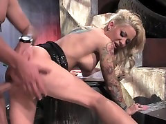 Slutty busty stepmom fuck my friend MILF licking balls in alley before bending over for hard fuck