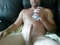 hairy muscle edges a load out with a fleshlight