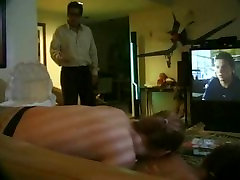 teen babysitters fucking when dad comes home early!
