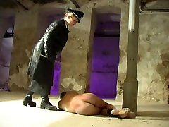 Lily caning the lucky slave