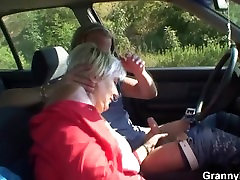 Old free scheck gets nailed in the car by a stranger
