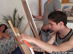 Old czech republic gets banged by two young painters